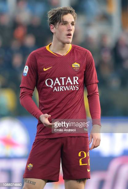 Nicolo Zaniolo of AS Roma looks on during the Serie A match between Parma Calcio and AS Roma at Stadio Ennio Tardini on December 29 2018 in Parma...