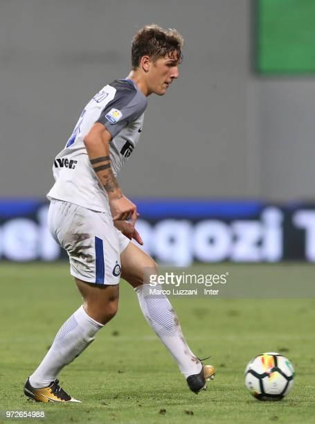 Nicolo Zaniolo of FC Internazionale in action during the Serie A Primavera Playoff Final match between FC Internazionale U19 and ACF Fiorentina U19...