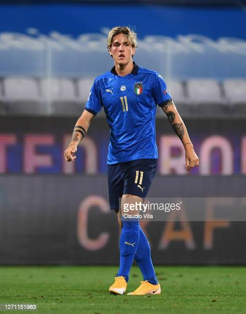 Nicolo Zaniolo of Italy in action during the UEFA Nations League group stage match between Italy and Bosnia and Herzegovina at Artemio Franchi on...