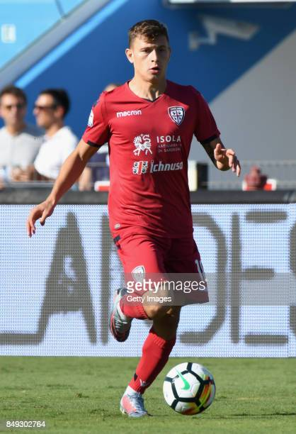 Nicolou0092 Barella of Cagliari Calcio in action during the Serie A match between Spal and Cagliari Calcio at Stadio Paolo Mazza on September 17 2017...