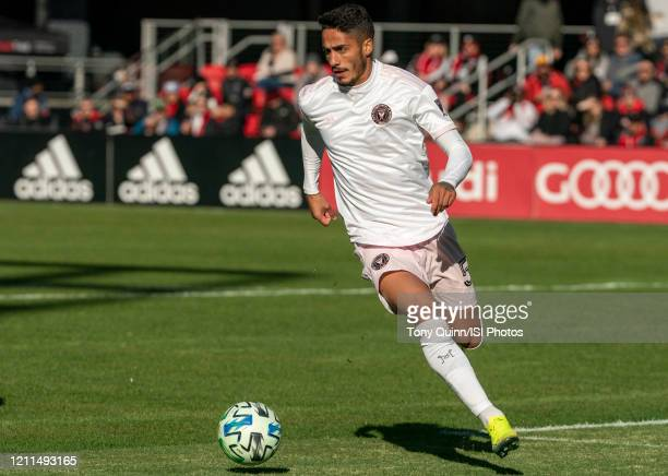 Nicolás Figal of Inter Miami in action during a game between Inter Miami CF and D.C. United at Audi Field on March 07, 2020 in Washington, DC.
