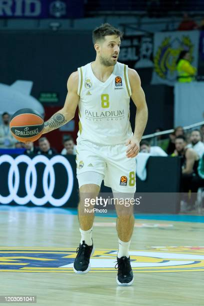 Nicols Laprovittola of Real Madrid during the Turkish Airlines EuroLeague match between Real Madrid and Panathinaikos Opap Athens at Wizink Center on...