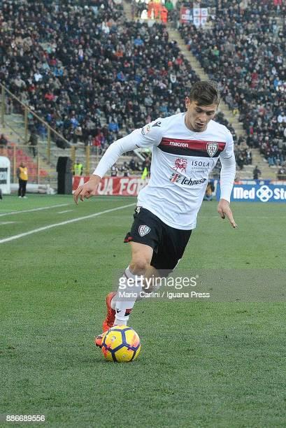 Nicol'u0098 Barella of Cagliari Calcio in action during the Serie A match between Bologna FC and Cagliari Calcio at Stadio Renato Dall'Ara on...