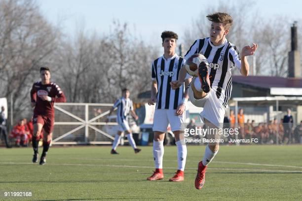 Nicolu0098 Fagioli during the U17 match between Torino FC and Juventus on January 28 2018 in Turin Italy