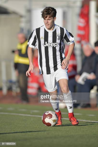 Nicolu0098 Fagioli during the U17 match between Torino FC and Juventus on January 28 2018 in Turin Italy