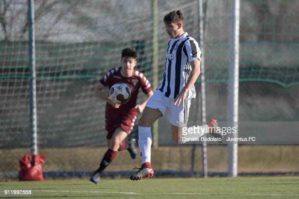 Nicolu0098 Francofonte during the U17 match between Torino FC and Juventus on January 28 2018 in Turin Italy