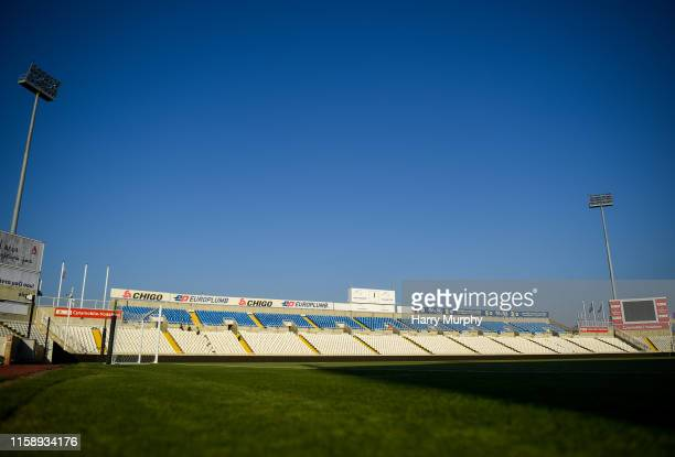 Nicosia , Cyprus - 1 August 2019; A general view of the GSP Stadium prior to the UEFA Europa League 2nd Qualifying Round 2nd Leg match between...