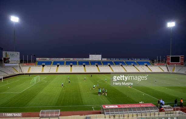 Nicosia , Cyprus - 31 July 2019; A general view inside the stadium during a Shamrock Rovers Training Session at the GSP Stadium in Nicosia, Cyprus.