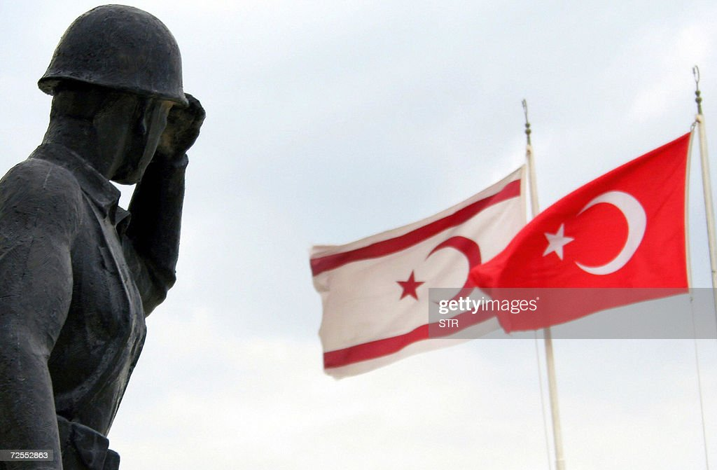 A soldier statue is seen with Turkish (R : News Photo