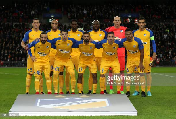 Nicosia team photo during the UEFA Champions League group H match between Tottenham Hotspur and APOEL Nicosia at Wembley Stadium on December 6 2017...