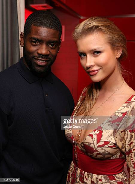 Nicoye Banks and Joanna Krupa during Eli Mizrahi Birthday Bash at GSpa Hotel Gansevoort in New York City New York United States