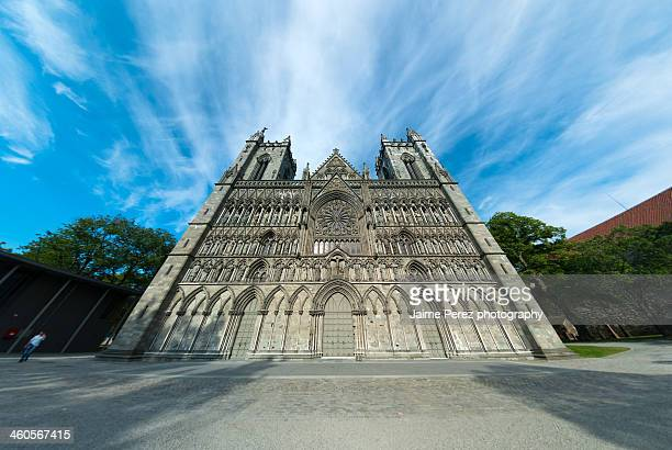 nidaros cathedral - cathedral stock pictures, royalty-free photos & images