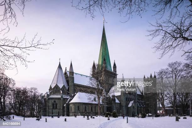 nidaros cathedral - トロンハイム ストックフォトと画像