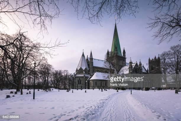 nidaros cathedral - trondheim fotografías e imágenes de stock