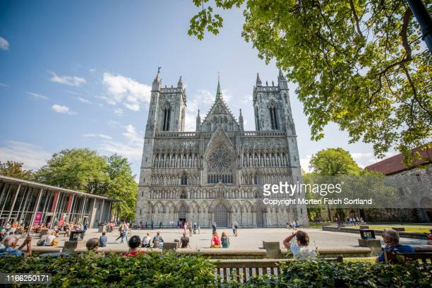 nidarosdomen cathedral - cathedral stock pictures, royalty-free photos & images