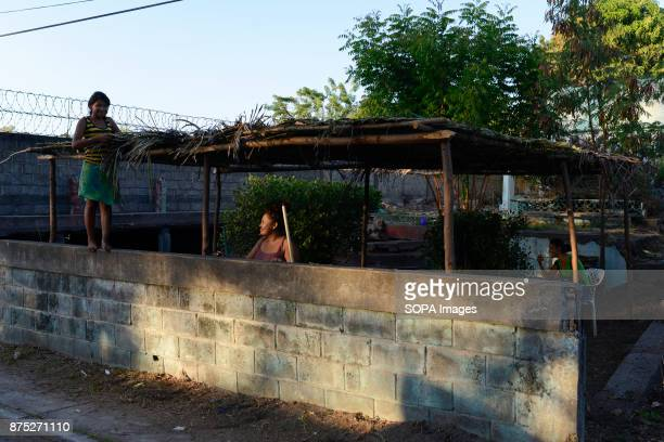 Nidia Karla and Yolanda in the small fishing village of Poneloya Although Nicaragua struggled to recover from the devastation caused by the civil war...