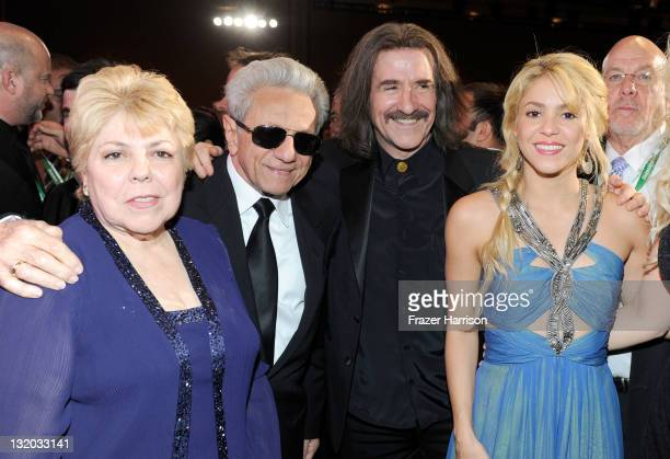 Nidia Ripoll William Mebarak Chadid Chairman of the Latin Recording Academy Luis Cabos honoree Shakira during the 2011 Latin Recording Academy's...