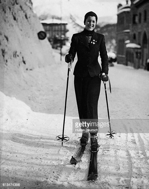 Niece of King of Greece at St Moritz Among the personalities now enjoying the winter sports at St Moritz Switzerland is Princess Alexandra of Greece...