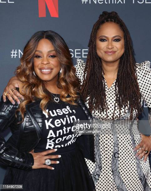 """Niecy Nash and Ava DuVernay attend Netflix's FYSEE event for """"When They See Us"""" at Netflix FYSEE at Raleigh Studios on June 09, 2019 in Los Angeles,..."""
