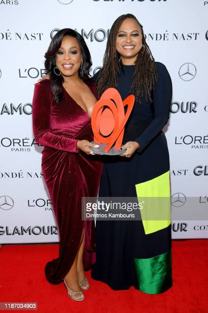 Niecy Nash and Ava DuVernay pose backstage at the 2019 Glamour Women Of The Year Awards at Alice Tully Hall on November 11, 2019 in New York City.