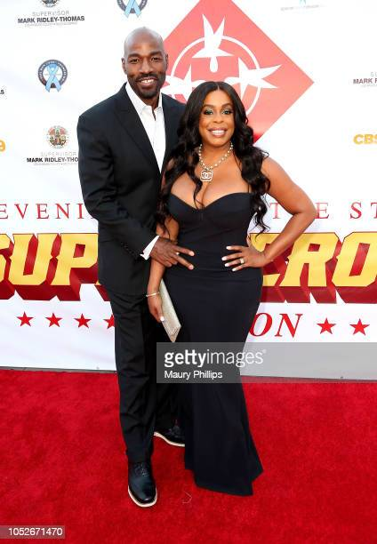 Niecy Nash and husband Jay Tucker arrive at the Special Needs Network Superhero Gala at the California African American Museum on October 20 2018 in...