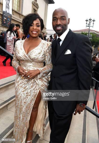 Niecy Nash and Jay Tucker attend the 49th NAACP Image Awards at Pasadena Civic Auditorium on January 15 2018 in Pasadena California