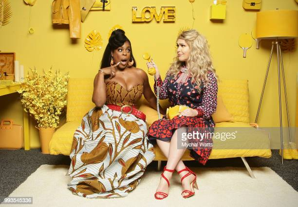 Niecy Nash and Jenn Lyon at the 2018 Essence Music Festival Getty Portrait Studio on July 7 2018 in New Orleans Louisiana