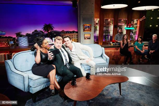 Niecy Nash and Matt Bomber chat with James Corden during 'The Late Late Show with James Corden' Thursday July 27 2017 On The CBS Television Network