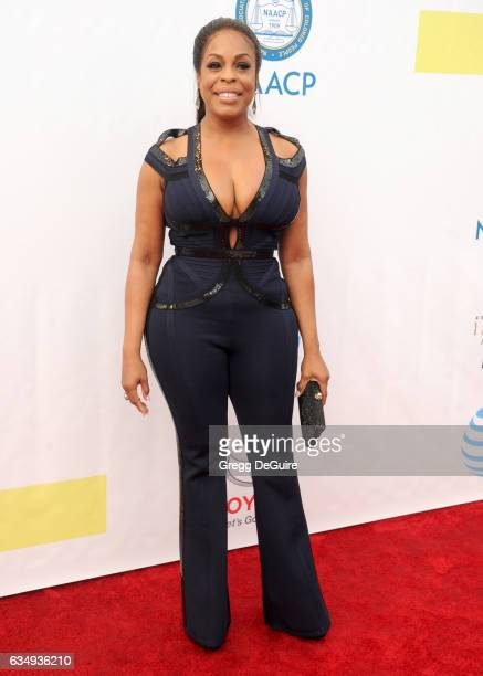 Niecy Nash arrives at the 48th NAACP Image Awards at Pasadena Civic Auditorium on February 11 2017 in Pasadena California