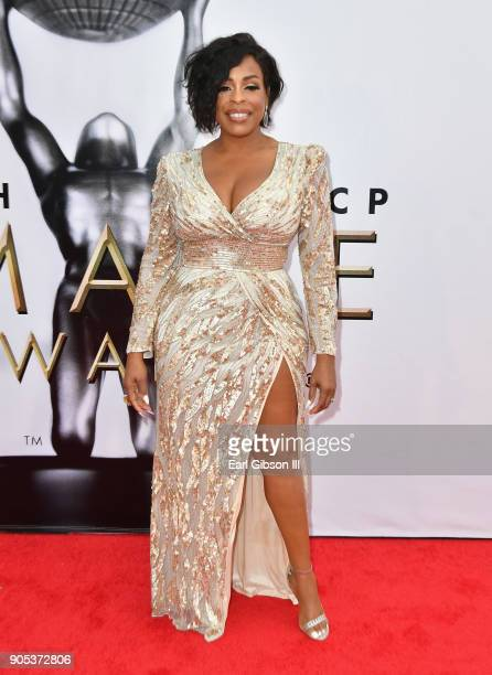 Niecy Nash at the 49th NAACP Image Awards on January 15 2018 in Pasadena California