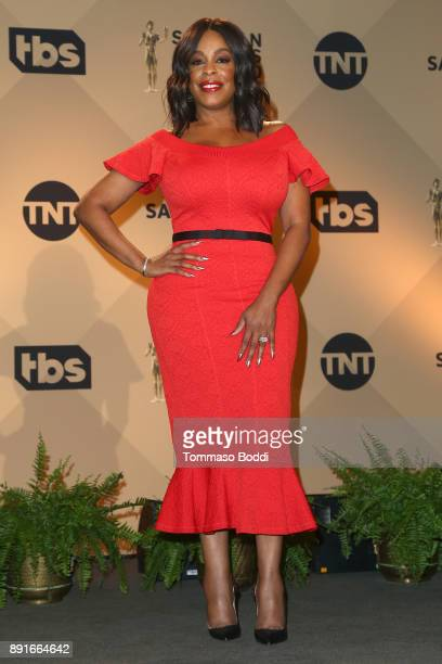 Niecy Nash attends the 24th Annual SAG Awards Nominations Announcement at SilverScreen Theater at the Pacific Design Center on December 13 2017 in...