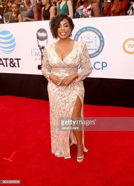 Niecy Nash attends the 49th NAACP Image Awards at Pasadena Civic Auditorium on January 15 2018 in Pasadena California