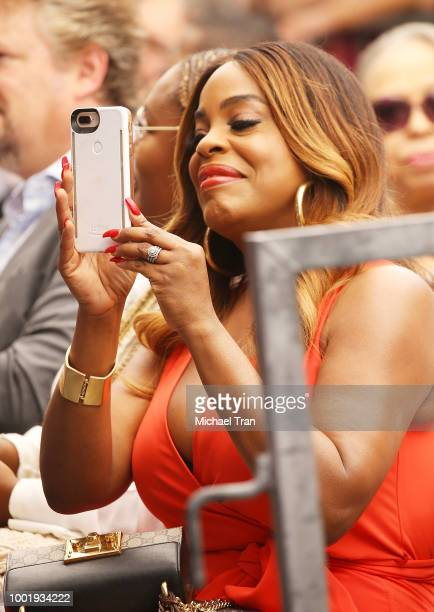 Niecy Nash attends the ceremony honoring Cedric The Entertainer with a Star on The Hollywood Walk of Fame held on July 19 2018 in Hollywood California