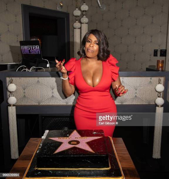 Niecy Nash celebrates with a Hollywood Star Cake as she is honored with a Star On The Hollywood Walk Of Fame on July 11 2018 in Hollywood California