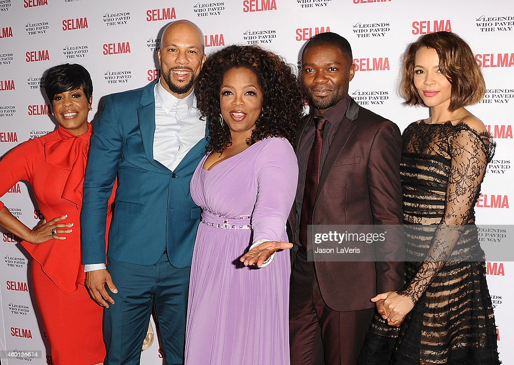 Niecy Nash, Common, Oprah Winfrey, David Oyelowo and Carmen Ejogo attend the 'Selma' and the Legends Who Paved the Way gala at Bacara Resort on December 6, 2014 in Goleta, California.