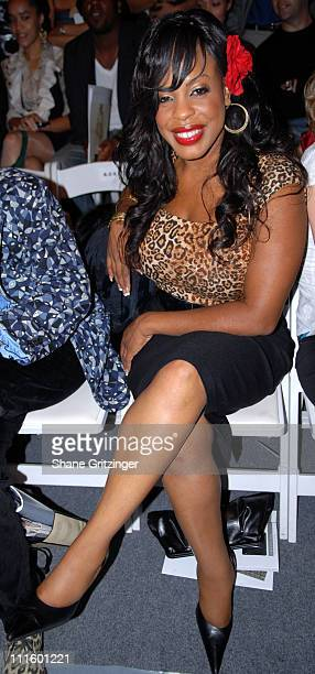 Niecy Nash during Olympus Fashion Week Spring 2007 Jason Wu Front Row and Backstage at Bryant Park The Atelier in New York City New York United States