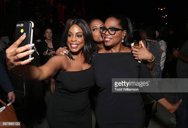 Niecy Nash Executive producer/creator Ava DuVernay and Executive producer Oprah Winfrey take a selfie at the reception for the premiere of OWN's...