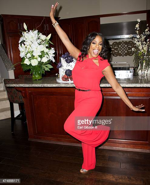 Niecy Nash gets ready for her birthday celebration on February 23 2014 in Calabasas California