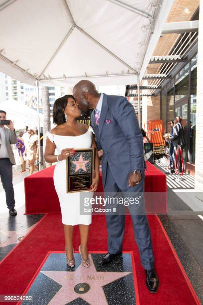 Niecy Nash is congratulated by her husband Jay Tucker as she receives her star on the Hollywood Walk Of Fame on July 11 2018 in Hollywood California