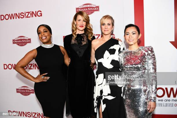 Niecy Nash Laura Dern Kristen Wiig and Hong Chau attend the premiere of Paramount Pictures' 'Downsizing' at Regency Village Theatre on December 18...