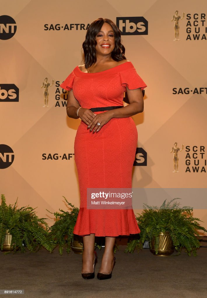 Niecy Nash poses during the 24th Annual SAG Awards Nominations Announcement at SilverScreen Theater at the Pacific Design Center on December 13, 2017 in West Hollywood, California.