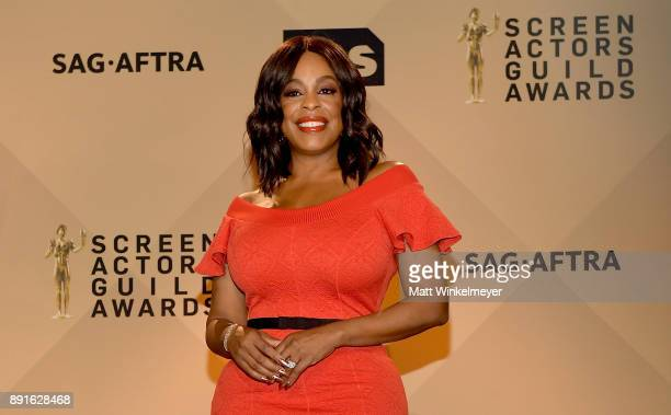 Niecy Nash poses during the 24th Annual SAG Awards Nominations Announcement at SilverScreen Theater at the Pacific Design Center on December 13 2017...