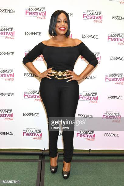 Niecy Nash poses in the press room at the 2017 ESSENCE Festival presented by CocaCola at Ernest N Morial Convention Center on July 1 2017 in New...