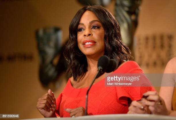 Niecy Nash speaks onstage during the 24th Annual SAG Awards Nominations Announcement at SilverScreen Theater at the Pacific Design Center on December...