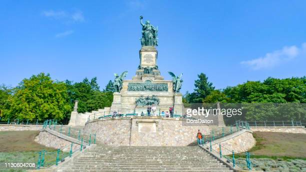 niederwalddenkmal in rüdesheim ,germany - monument stock pictures, royalty-free photos & images