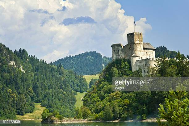 niedzica castle and czorsztyn lake - polish culture stock photos and pictures