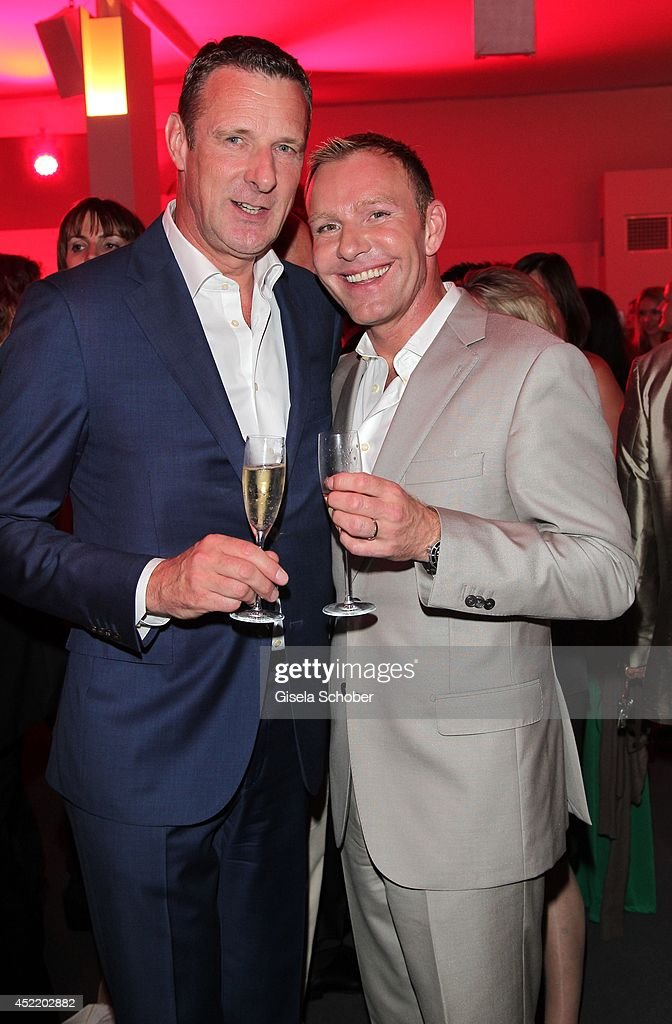 Niek Jan van Damme, corporate management TELEKOM and husband Juergen van Damme attend the CHIO 2014 media night on July 15, 2014 in Aachen, Germany.