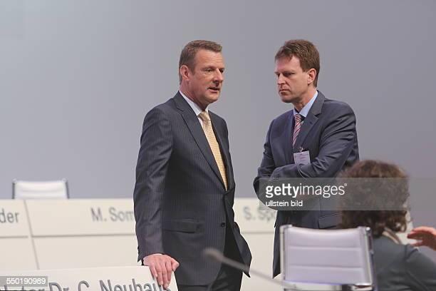 Niek Jan van Damme und Thomas Dannenfeldt Deutsche Telekom Hauptversammlung Lanxess Arena
