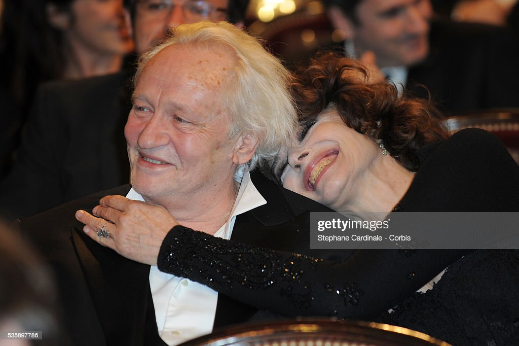 Niels Arestrup and Fanny Ardant attend the 35th Cesar awards ceremony, held at the Chatelet theater in Paris.