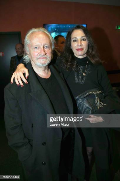 Niels Arestrup and his wife Isabelle Le Nouvel attend Laurent Gerra Sans Moderation Show at L'Olympia on December 26 2017 in Paris France